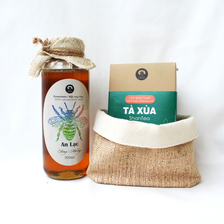 shan tea and honey gift box